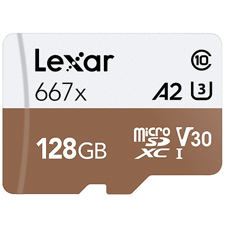 Lexar 128GB TF (MicroSD) memory card C10 U3 V30 A2 Read 100MB/s Write 90MB/s High speed stable without speed (667x)