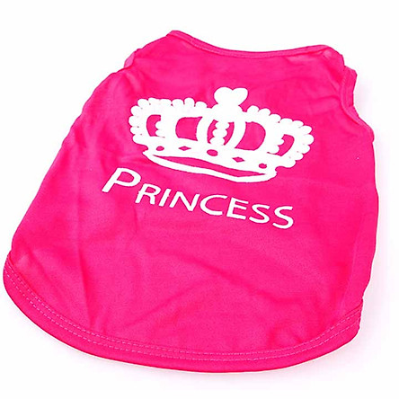 Áo họa tiết công chúa vải mỏng cho chó mèo