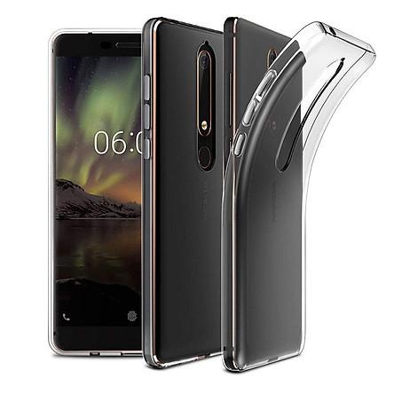 Ốp lưng dẻo silicon cho Nokia 6.1 / Nokia 6 2018 (siêu mỏng 0.6mm, chống trầy, chống bụi)
