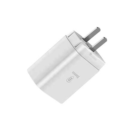 Củ sạc đa năng sạc nhanh 3.4A - Baseus Mirror Lake 3 cổng USB, LED hiển thị cho iPhone/iPad/Android (chuôi dẹt) - Hàng chính hãng