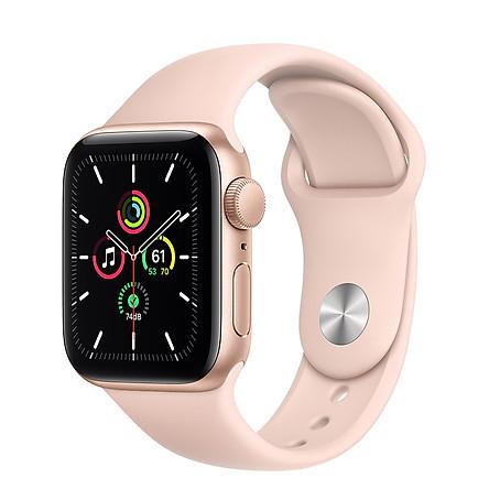 Đồng Hồ Thông Minh Apple Watch SE GPS Only Aluminum Case With Sport Band (Viền Nhôm & Dây Cao Su) - Hàng Chính Hãng VN/A