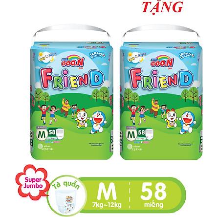 Tã Quần GOO.N Friend Gói Cực Đại M58 (7-12Kg) + Tặng 1 Bịch M58 Cùng Loại