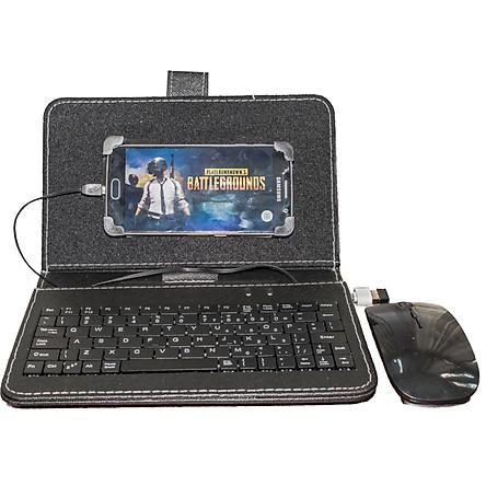 Vỏ bảo vệ điện thoại tích hợp bàn phím chuột không dây cho điện thoại Android có hỗ trợ OTG