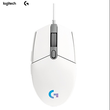 Logitech (G) G102 gaming mouse white RGB mouse eating chicken mouse Jedi survival lightweight design 200-8000DPI G102 second generation