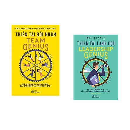 Combo 2 cuốn sách: Thiên tài đội nhóm + Thiên tài lãnh đạo