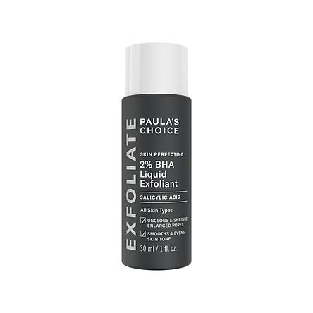 Dung dịch loại bỏ tế bào chết 2% BHA Paula's Choice Skin Perfecting 2% BHA Liquid Exfoliant 30ml
