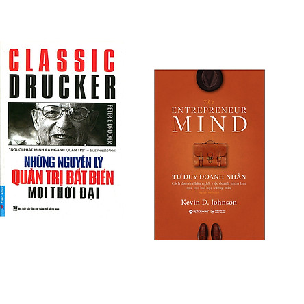 Combo 2 cuốn sách: Những Nguyên Lý Quản Trị Bất Biến Mọi Thời Đại + Tư Duy Doanh Nhân