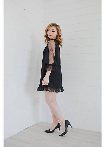 Đầm Blooming Dress Nữ  Xuông Dáng Xòe  Trơn Cao Cấp Kiobi