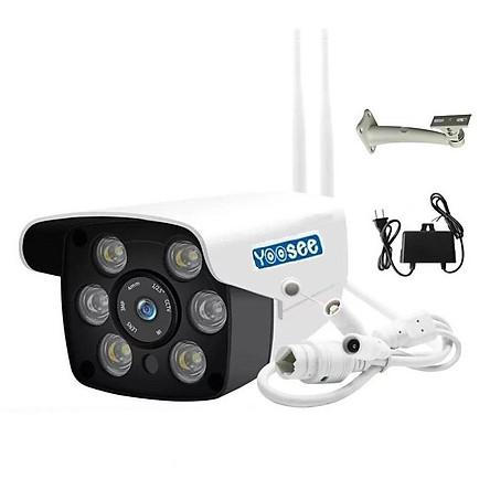 Camera IP Wifi Ngoài trời Yoosee GW-216S 2 Râu FullHD 1080P 6 LED trợ sáng đàm thoại 2 chiều (Trắng) Hàng Nhập Khẩu