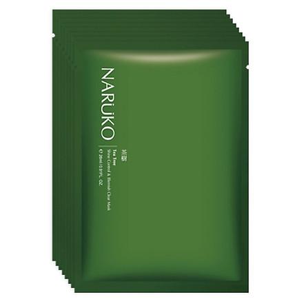 Mặt Nạ Kiểm Soát Dầu Và Mụn Naruko Tràm Trà Bản Đài - Tea Tree Shine Control And Blemish Clear Mask (8 Miếng / Hộp)