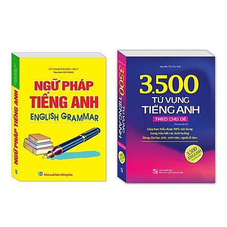 Combo Ngữ pháp tiếng Anh (English grammar) , 3500 từ vựng tiếng Anh theo chủ đề (sách màu)