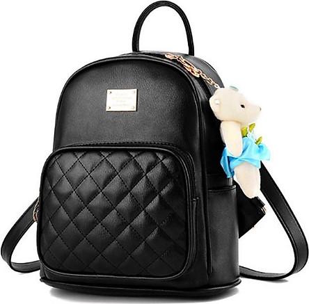 Balo hàn quốc thời trang mini balo học sinh móc gấu VN22