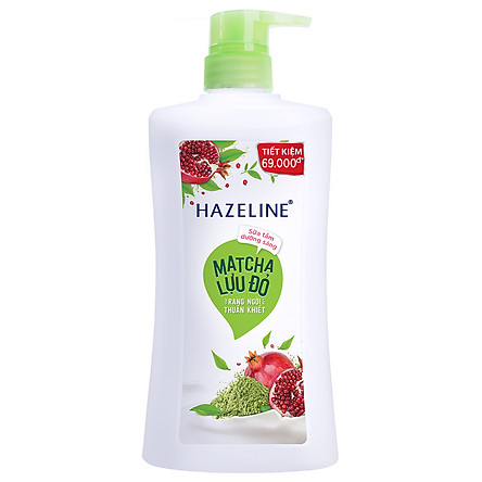 Sữa Tắm Hazeline Matcha & Lựu Đỏ (670g)