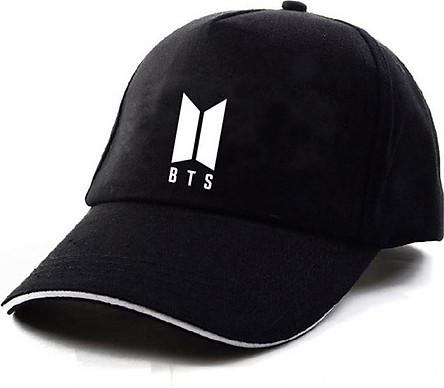 Mũ nón in chữ BTS lưỡi trai như hình