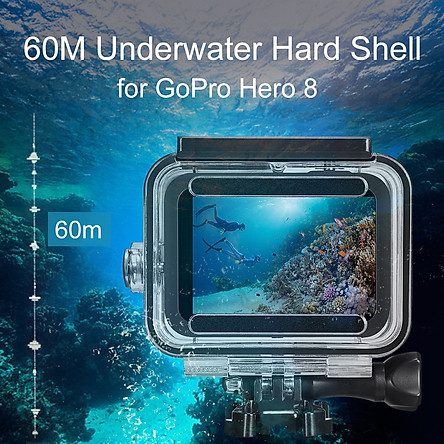 60m Underwater Waterproof Hard Shell for GoPro Hero 8 Black Protective Shell Cover Housing Camera Lens 60M Diving