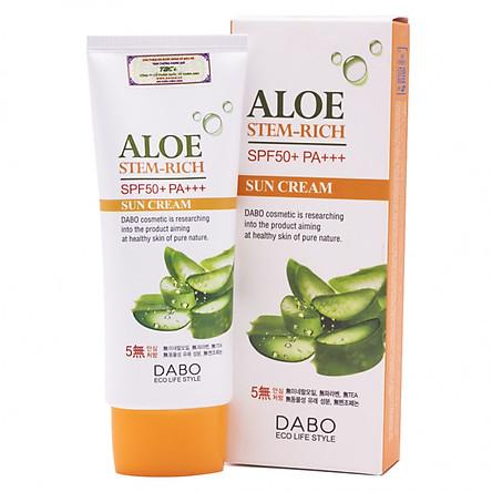 Kem chống nắng dành cho da dầu tinh chất Lô Hội DABO Aloe Stem Rich SPF50 PA+++ (70ml) – Hàng Chính Hãng