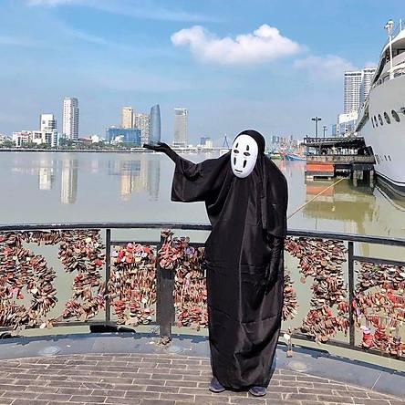 Bộ đồ vô diện cho Halloween cosplay hóa trang phiên bản anime Nhật Bản