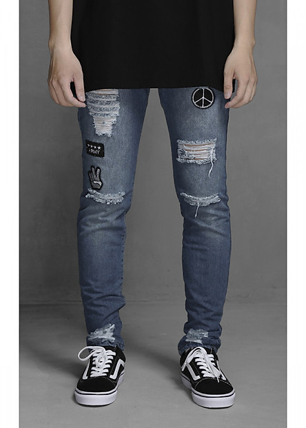 Quần jeans Ripped Knee Skinny Jeans