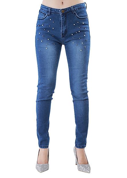 Quần Jeans Nữ Đính Ngọc Trai JNT016