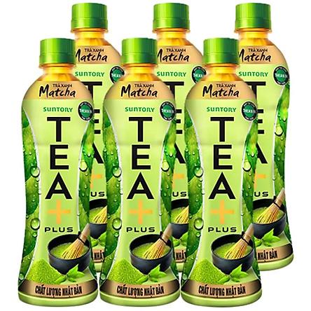 Lốc 6 Chai Trà Xanh Matcha Tea+ Plus (350ml x6 Chai)