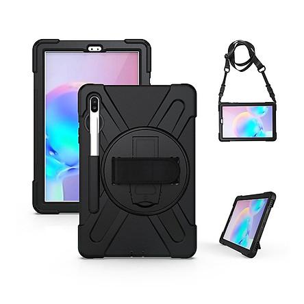 Ốp lưng dành cho Samsung Galaxy Tab S7/Tab S7 Plus chống sốc dựng máy có dây đeo vai và tay