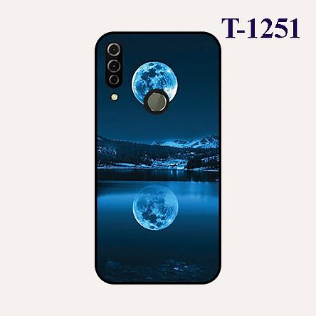 Ốp lưng dành cho điện thoại Vsmart Joy 3 viền silicon dẻo đen hình Trăng Xanh