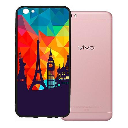 Ốp lưng nhựa cứng viền dẻo TPU cho Vivo V5 - Travelling