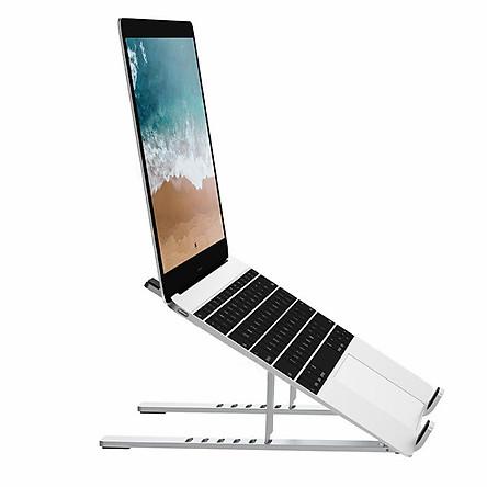 Đế Nhôm Tản Nhiệt Dành Cho Macbook, Laptop WIWU Có Thể Gấp Gọn Và Điều Chỉnh 6 Nấc Độ Cao - Hàng Chính Hãng