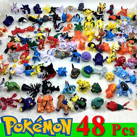 Bộ sưu tập mô hình đồ chơi Pokemon 48 chi tiết không trùng anime chibi vui nhộn, dễ thương cho bé nhập vai, trang trí - Hàng chính hãng