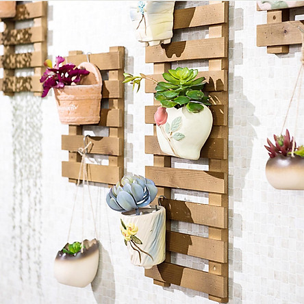 khung treo chậu hoa, khung dây leo - bộ 4 cái