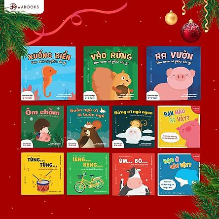 Combo 11 cuốn Ehon cho bé từ 0 - 6 tuổi - Ai giấu cái gì - Buồn ngủ ơi là buốn ngủ - Bạn là ai vậy?