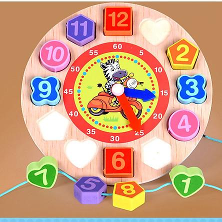 Bộ đồng hồ  số xỏ dây  đồ chơi giáo dục