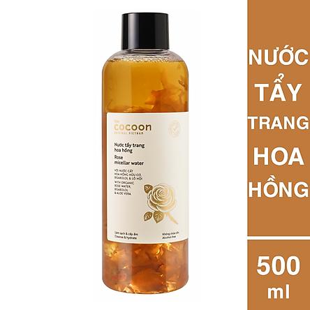 Nước Tấy Trang Hoa Hồng Cocoon 500ml