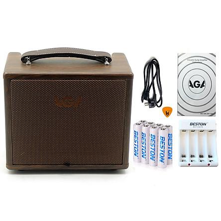 Combo Ampli AGA SC-20B-III (8 Pin & Bộ sạc AA) - Cho Đàn Guitar & Nhạc cụ mộc Acoustic (công suất 20W) - Bộ khuyếch đại âm thanh Amplifier Amply SC20B - Kèm Móng Gẩy DreamMaker