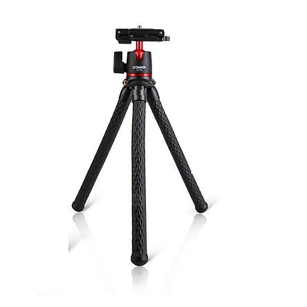 Tripod bạch tuột 3 chân MT35 xoay 360 độ siêu chắc cho máy ảnh, điện thoại - Chân đế uốn dẻo có thước đo cân bằng tích hợp sẵn giá đỡ điện thoại AnZ