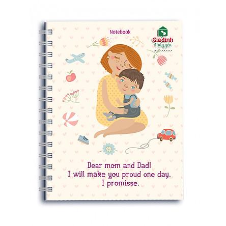 Sổ Lò Xo Notebook Minh Long - Dear Mom And Dad
