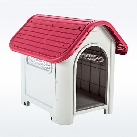 Nhà nhựa chó - chuồng chó bằng nhựa cao cấp (750 x 660 x 592 cm) (màu ngẫu nhiên)