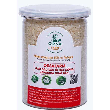 Gạo Japonica hạt giống của Nhật Bản, Gạo Nhật Bản  OrSaFarm 500gram, 800gram, hộp quà 4kg, hộp quà 4.5kg, 5kg, 10kgs