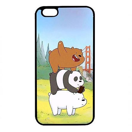 Ốp lưng dành cho điện thoại Iphone 6 Plus Bộ Ba Chú Gấu