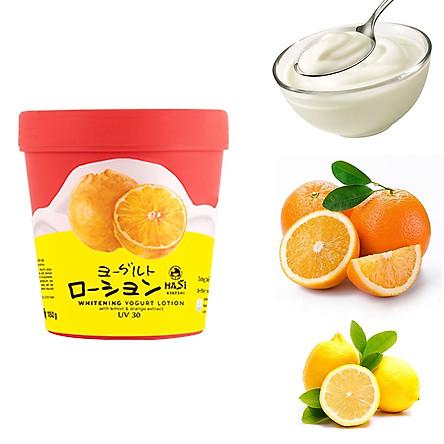 Lotion Dưỡng Thể Trắng Da HASI KOKESHI Yogurt Trái Cây UV30