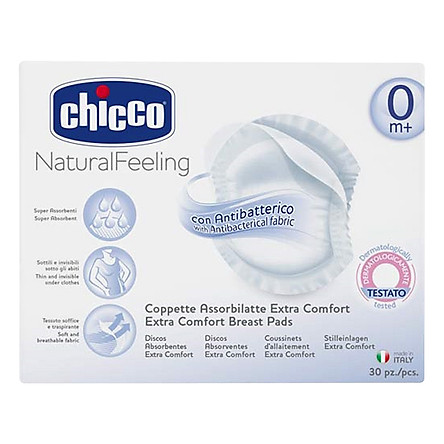 Miếng Lót Thấm Sữa Chống Khuẩn Chicco (Hộp 30C)