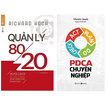 Combo 2 Cuốn Sách Hay Dành Cho Các Nhà Kinh Doanh : Quản Lý 80/20 (Tái Bản 2019) + PDCA Chuyên Nghiệp (Tặng kèm Bookmark thiết kế)