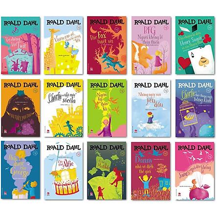 """Combo 15 Cuốn: Bộ Sách Của Roald Dahl - Nhà Văn Được Mệnh Danh Là """"Người Kể Chuyện Số 1 Thế Giới""""."""