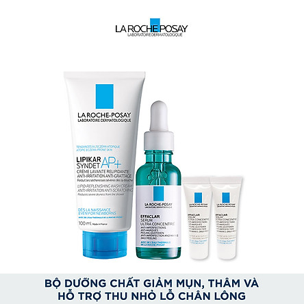 Bộ dưỡng chất giảm mụn, giảm thâm và hỗ trợ thu nhỏ lỗ chân lông La Roche-Posay Effaclar Serum
