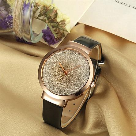Đồng hồ nữ sang trọng mặt lấp lánh thời trang 2021