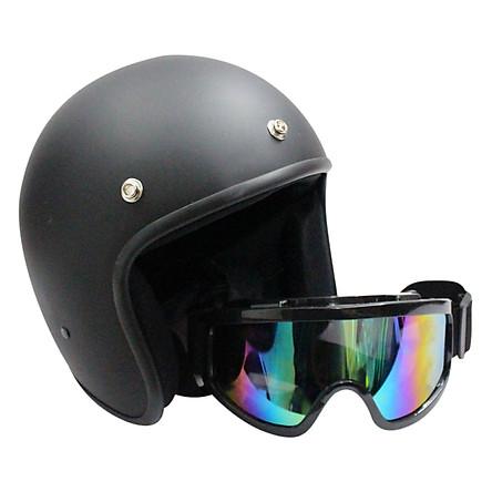 Combo Mũ Bảo Hiểm 3/4 + Kính UV X500