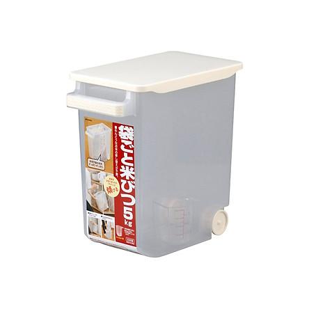Thùng Gạo Có Bánh Xe Inomata (5Kg)