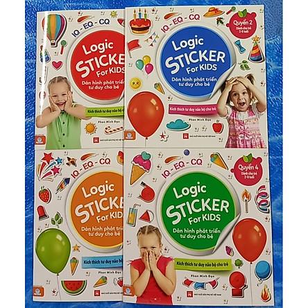 Logic Sticker for kids - dán hình phát triển tư duy cho bé ( Bộ 4 cuốn)