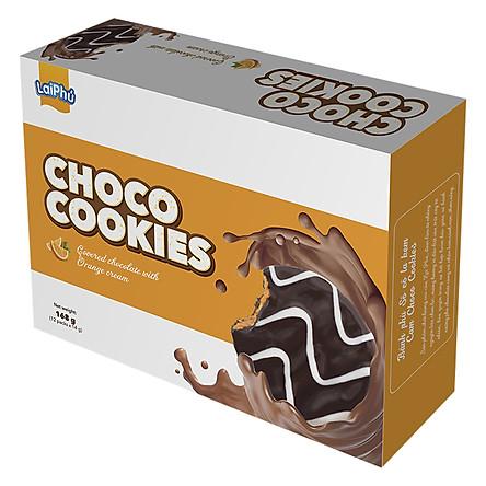 Bánh Choco Cookies kem Cam 168g