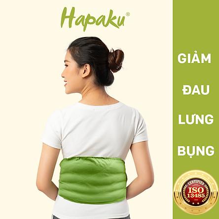 Túi chườm Lưng Hông - Gối chườm nóng thảo mộc dùng lò vi sóng làm nóng, giúp giảm đau lưng hông do thoái hóa, thoát vị đĩa đệm, căng cứng cơ, ngồi lâu ở một tư thế  - Hapaku